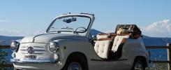noleggio auto vintage roma - fiat 600 Capri 1959